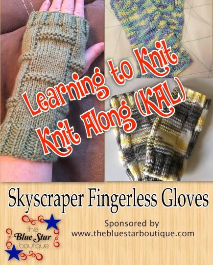 Skyscraper Fingerless Gloves KAL