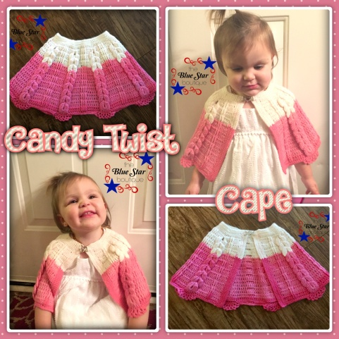 Candy Twist Cape Collage